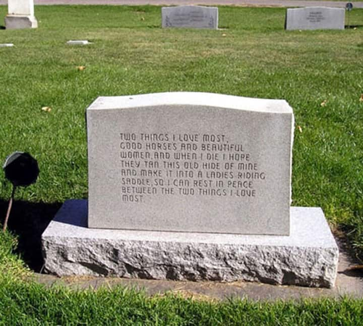 WINNER OF THE COOLEST HEADSTONE COMPETITION