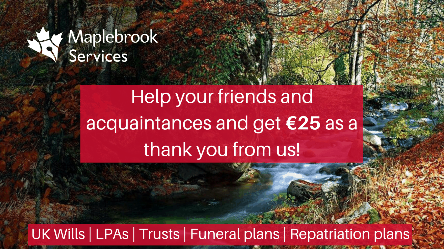Refer A Friend And Get A €25 Thank You!