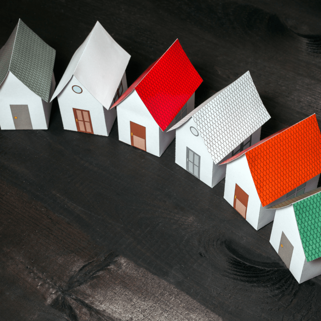 6 paper houses.